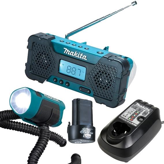 Combo Acessórios 12v Rádio Lanterna Carreg Bateria Makita