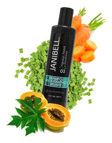 Imagen 1 de 3 de Shampoo Multivitaminico Papaya, Nopal Y Zanahoria Janibell