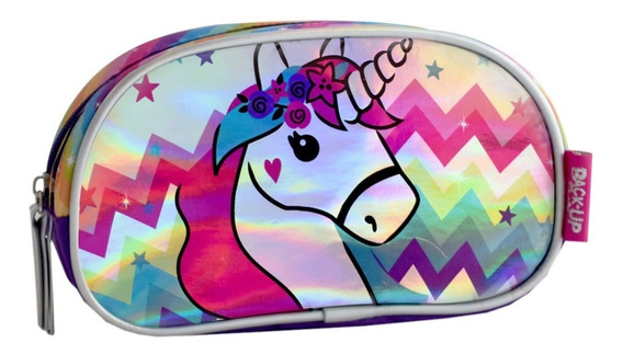 Cartuchera 2 Cierres Unicornio Original Backup Mundo Manias