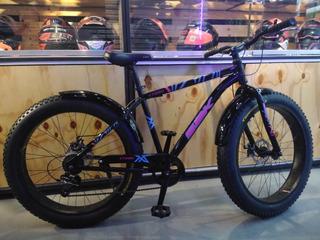 Bicicleta Sbk Ct280 Fat R26 Acero 7 Vel Mv Urbano