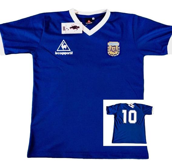 Camiseta Seleccion Argentina Mundial 1986 Maradona Azul