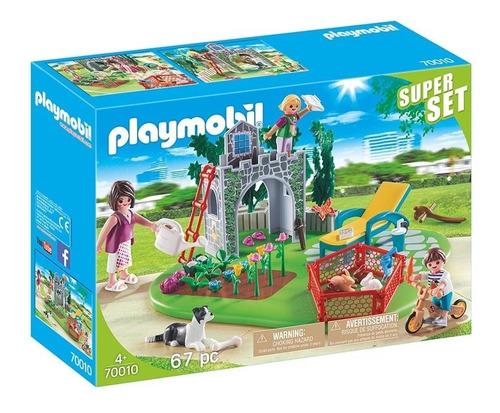 Playmobil 70010 Super Set Familia En El Jardín