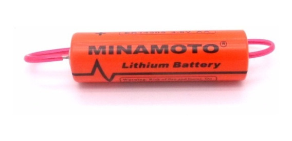 Bateria Er14505 Aa 3,6v Lithium C/ Terminal Minamoto