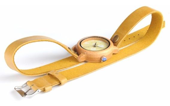 Relógio Feminino Madeira M24 Analógico Bobo Bird Promoção