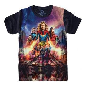 Camisetas 4fun - Super Heróis Vingadores Capitã Marvel