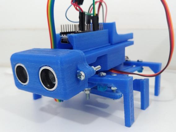 Robô Hexapode 6 Patas Arduino Nano Servo 9g Sensor Obstáculo