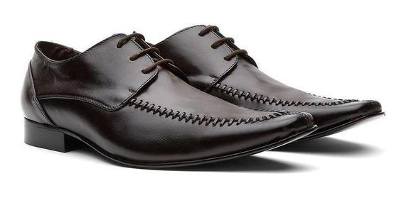 Sapato Social Masculino Sola De Couro 460415 - Frete Grátis