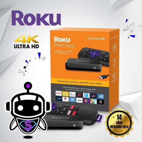Imagen 1 de 6 de Roku Premiere 4k Convierte Tv Smart = Google Chromecast !!!