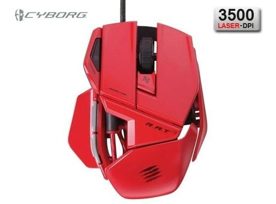 Mouse Mad Catz R.a.t. 3 Red 3.500 Dpi + Garantia