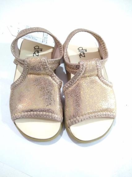 Sandalias Elastizadas Doradas Nueva Diez Indiecitos Nenas