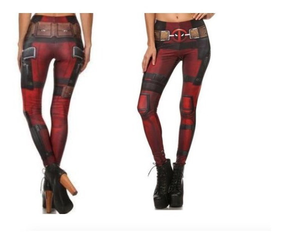 Legging Deportivo Fitness Mujer Deadpool Marvel Gym Xtreme C