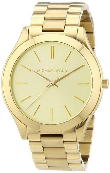 Relógio Michael Kors Original Mk3179 Dourado Com Caixa Mk