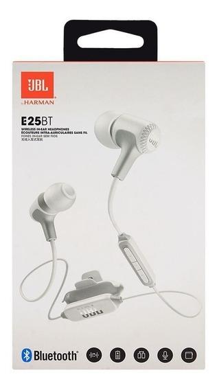 Fone Sem Fio Jbl E25bt - Fone Com Conexão Bluetooth - Branco