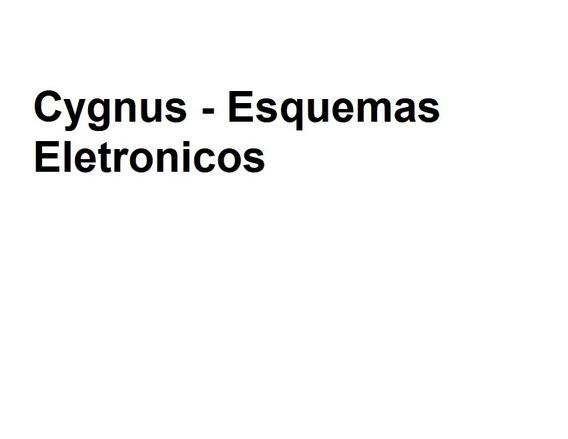 Cygnus - Esquemas Eletronicos