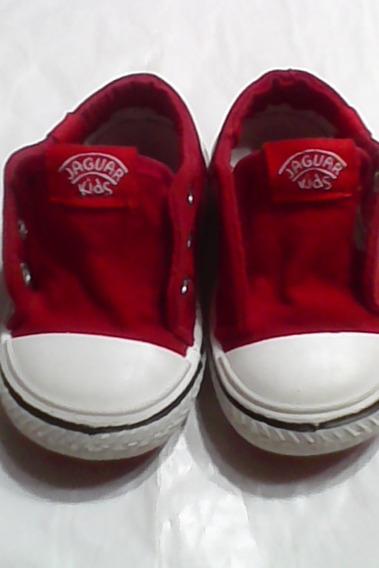Jaguar Kids Zapatillas Urbanas Lona Roja Nro 20- Cancheras