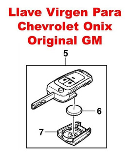 Llave Plegable Espada Chevrolet Onix Original Gm