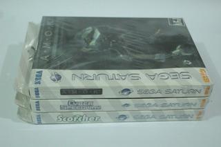 Super Lote 3 Jogos Originais Para Sega Saturn Novos Lacrados