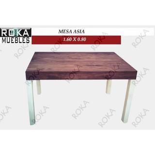 Mesa Asia 1.60x0.80 Patinado Combinado Roka
