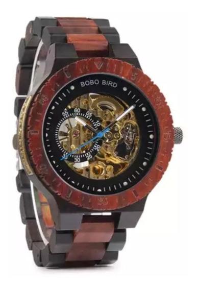 Reloj Bobo Bird De Madera De Bambu Skeleton