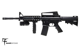 Fuzil M4 Rifle Airsoft Spring Saigo 6mm Mais Barato Original