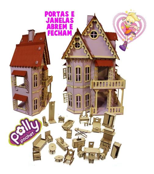 Casa Casinha Castelo Lilás Polly-lol Surpise-barbie + Móveis