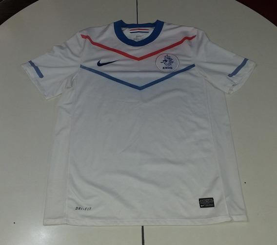 Camiseta De Holanda Marca Nike Blanca 2011, Talle M Detalles