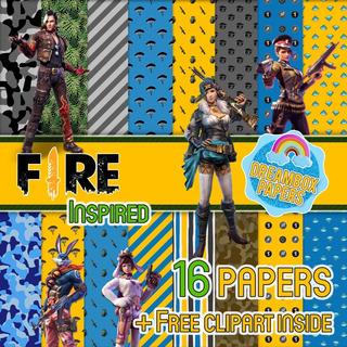 Free Fire, Garena, Papeles Digitales, Clipart, Fondos