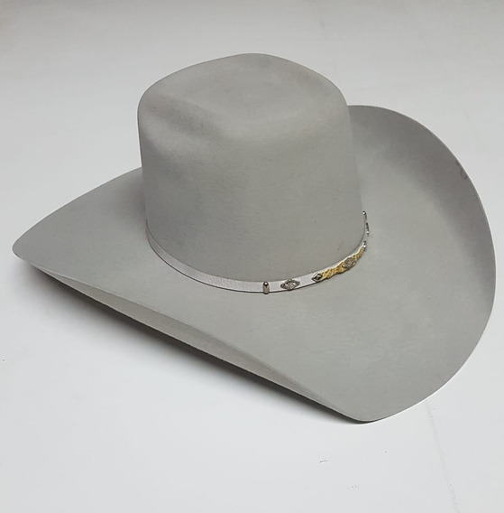 Texana Gris Rodeo 100% Lana Fina Copa Alta Goldstone 50x