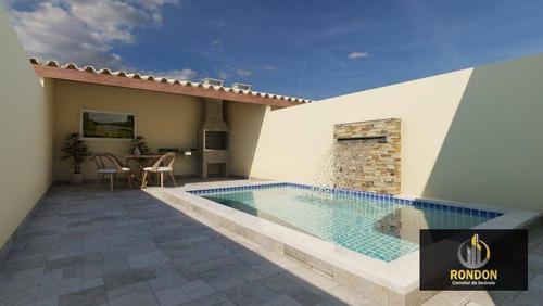 Casa Com 3 Dormitórios À Venda, 75 M² Por R$ 289.000,00 - Jardim Regina - Itanhaém/sp - Ca1427