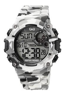 Reloj Q&q By Citizen M146j005y Camuflado Gris Para Hombre