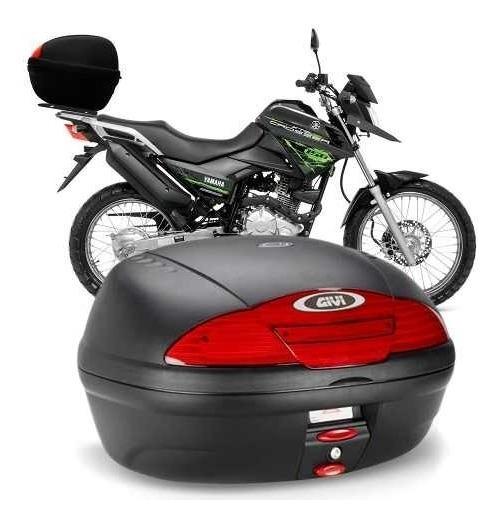 Baú Moto Para 2 Capacetes E Carga 45 Litros Com Suporte