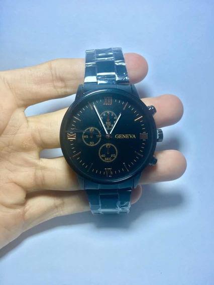 Relógio Geneva De Luxo Unissex Aço Inoxidável Promoção