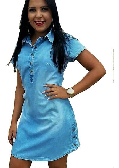 Vestido Feminino Evangélico Jeans Pronta Entrega 021