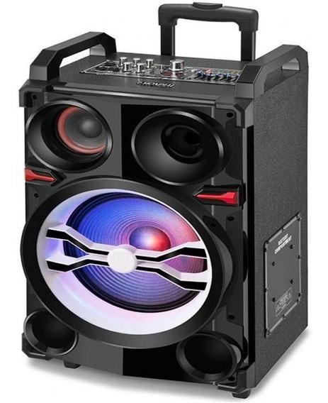 Caixa De Som Amplificada Mondial Bluetooth, Entrada Usb E Sd