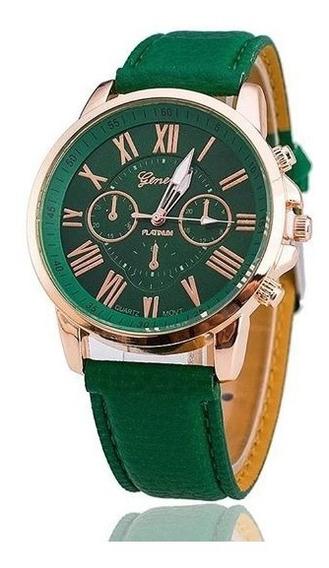 Relógio Feminino Geneva Verde - Promoção