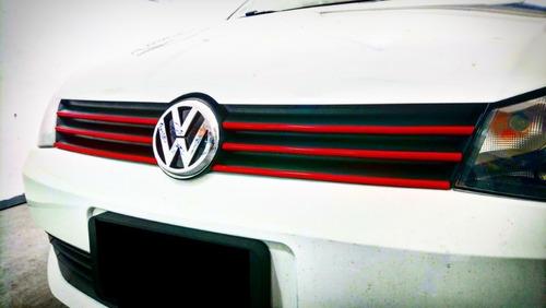 Vira Roja 9 Mm Auto Adhesiva Moldura X Metro Vw Gol Power 06