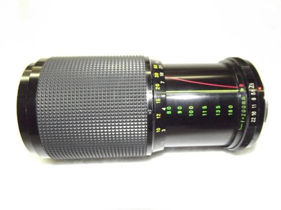 Lente Paximat Teleobjetiva 1:4.5 F80-200mm Made In Japan