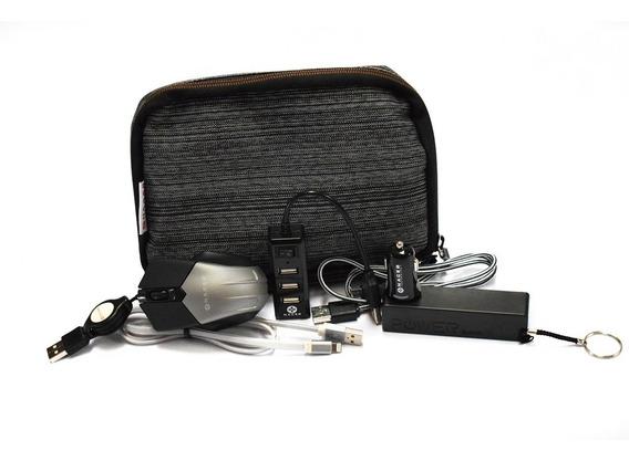 Kit 6 En 1 Power Bank Cargador Cable Mouse Naceb Na-0402 /a