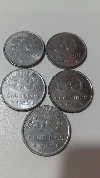 Jogo De Moedas 50 Cruzeiros 1981 A 1985