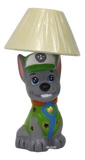 Lámpara Cerámica Decorada Infantil Rocky Paw Patrol