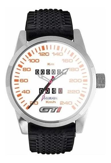 Relógio Personalizado Painel Gol Gti Fundo Branco 5028
