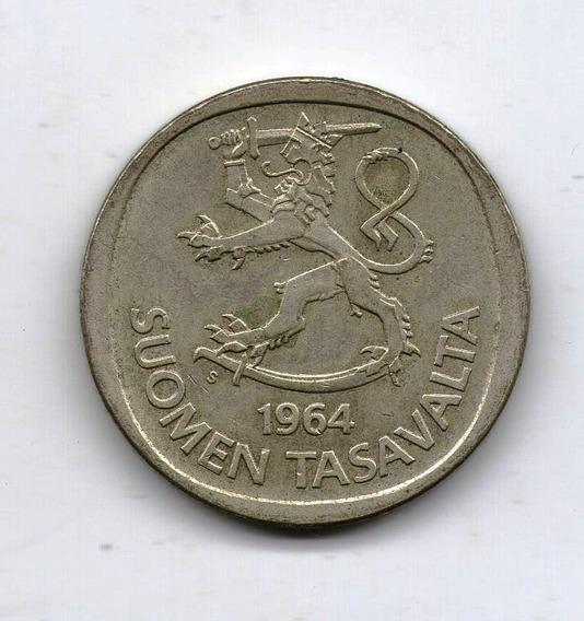 Finlandia Moneda De Plata 1 Markka 1964 - Km#49 - Argentvs