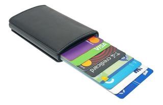 Carteira Minimalista Com Porta Cartões Pop Up E Porta Cédula