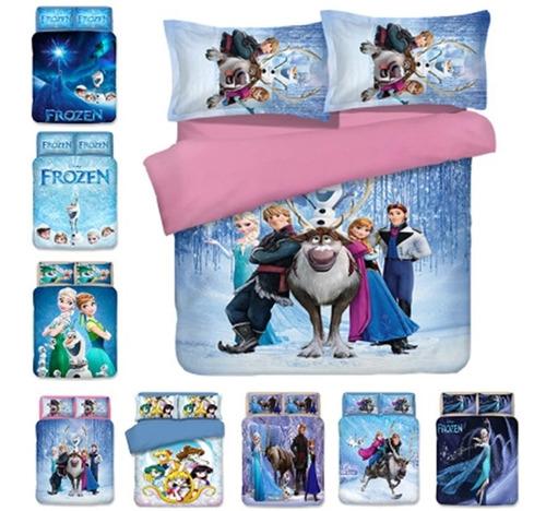 Edredon Frozen De Disney Cubrelecho Cama Sencilla
