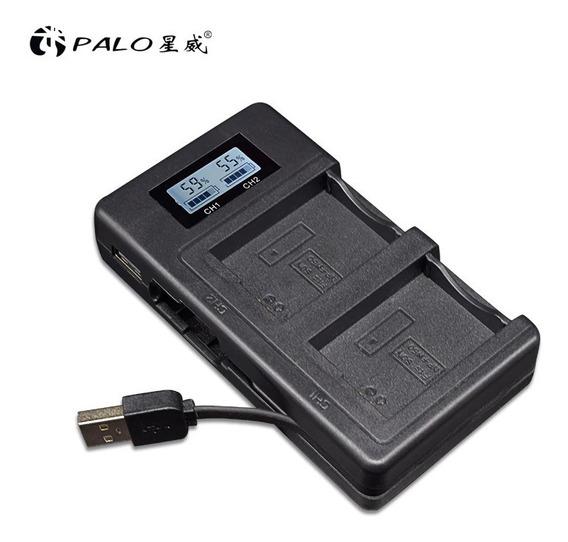Carregador Duplo Digital Lcd Bateria Sony Np-fw50 Alpha A7 E