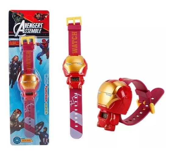 Reloj Iron Man De Los Vengadores Digital Para Niño
