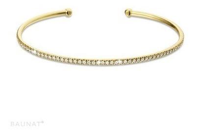 Bracelete Princesa De Ouro 18k + Diamantes Pu07vj
