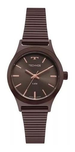 Relógio Technos Feminino Ref: 2035mqh/4m Elegance Chocolate