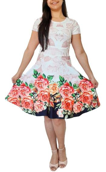 Kit 5 Vestido Feminino Moda Evangélica Boneca Godê Promoção