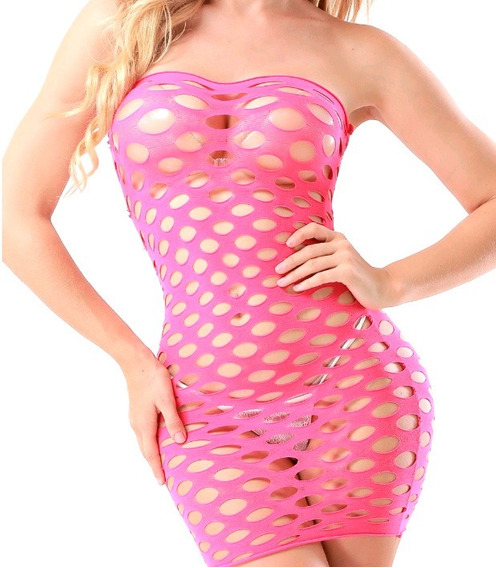 Body Baby Doll Perforado Rosa + Regalos+ Envio Gratis!